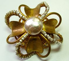 Miriam Haskell Beautiful Vintage Brooch