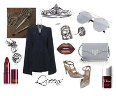 """Queens GOT"" by out-in-heels on Polyvore featuring Lipstick Queen, Bling Jewelry, Lavish Alice, Mulberry, Bochic, Valentino, Lime Crime and Christian Dior"