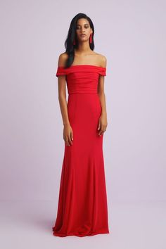 This jaw dropping elegant off the shoulder formal gown, features a beautiful ruched bodice made from a chiffon fabric. This gown is the ideal dress for a black-tie event or formal wedding. Designer Wedding Dresses, Bridal Dresses, Occasion Wear, Formal Wedding, Formal Gowns, Chiffon Fabric, Black Tie, Mother Of The Bride, Off The Shoulder