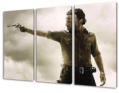 The Walking Dead, 3-teiliges Leinwandbild (120cm x 80cm), TOP-Qualität! Wand-Bild erhältlich von klein bis groß (XXL) Made in Germany! Preiswerter fertig gerahmter Kunst-Druck zum Aufhängen - tolles und einzigartiges Motiv. Kein Poster oder Plakat!