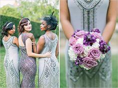#Gatsby bridesmaids dresses #uniquevintage