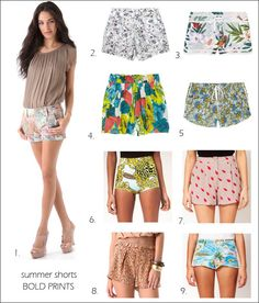 Key trends for summer: Printed shorts.