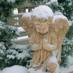 snow angel~ the snow is coming.. and I miss you. Makes me think of the time you shelved the ice and snow so we could get to the car<3