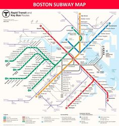 Boston subway map Looking a transportation map? In this article I will tell you about boston subway map. Boston subway map consists of 9 awesome pics and I hope you like it. Boston Map, New Boston, Boston Public, Visit Boston, Massachusetts, Revere Beach, System Map, Train Map, Bus Route