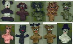 Crochet animal finger puppets
