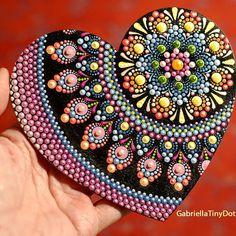 "Gabriella on Instagram: ""And - it is finished! ))"" Mandala Doodle, Mandala Art Lesson, Mandala Drawing, Mandala Painting, Dot Art Painting, Pebble Painting, Painting Patterns, Mandala Painted Rocks, Mandala Rocks"
