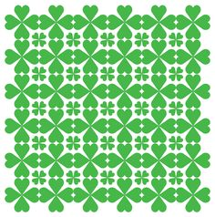 Here's a pattern that I made for a St. Patrick's Day theme using a 4 leaf clover shape.