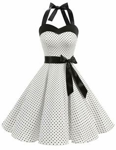 Dresstells Vintage Audrey Hepburn pin-up evening dress cockt . Dresstells Vintage Audrey Hepburn pin-up halter style cocktail party dress Pin Up, Vestidos Rockabilly, Rockabilly Dresses, 50s Rockabilly, Mode Outfits, Dress Outfits, Cocktail Dresses Online, Vestidos Vintage, Short Dresses