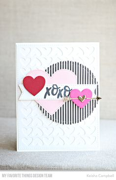 Stamps: Valentine Wishes Die-namics: Full of Heart, Pierced Heart STAX, Hearts in a Row - Horizontal, Stitched Mini Scallop Circle STAX, A2 Stitched Rectangle STAX Set 1, Tag Builder Blueprints 5, Stitched Sentiment Strips Keisha Campbell #mftstamps