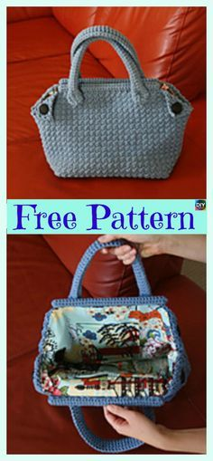 Classic Crochet Derek Bag — Free Pattern #freecorhcetpattern #bag