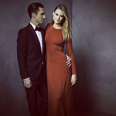 Adam Levine & Behati Prinsloo from 2014 Oscars: Vanity Fair's After-Party Portrait Pics | E! Online