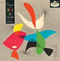 Bob Sharples and his Orchestra,Featuring the Sandmen. Label: London LL 1708(1958) Design: Alex Steinweiss.