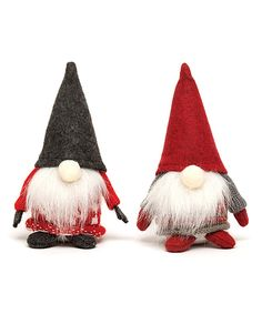 Take a look at this Gray & Red Santa Sweater Gnome Set today!