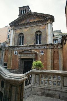The facade of the church of Santa Pudenziana in Rome which was built between 384 and 399 over a 2nd-century Roman bath