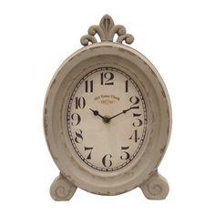 Cloe Reloj de Mesa  de Acero - Acabado Vintage