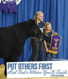 Put Others First and That's Where You'll Finish - Livestock Motivation By Ranch House Designs
