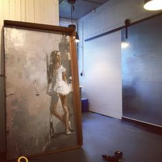 Building boxes last night... She's crated and ready for a 'White Show' at Eisenhower Gallery at Martha's Vineyard. #artshow #artiststudio #figurative #highkey #portrait #gallery #oilpainting #contemporary #contemporaryart #artist #marthasvineyard #oilonpanel #process #ballet #edges