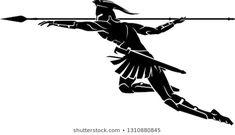 Spartan Spear, Spartan Logo, Spartan Tattoo, Spartan Warrior, Spartan Helmet, Blue Tattoo, I Tattoo, Throwing Spear, Alliance Logo