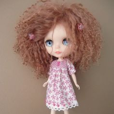 Pink and White Floral Summer Dress for Blythe by myfairdolly, $16.00