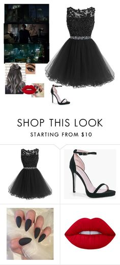"""""""Remi in wwe 2k17 commercial"""" by riley-497 ❤ liked on Polyvore featuring Boohoo and Lime Crime"""