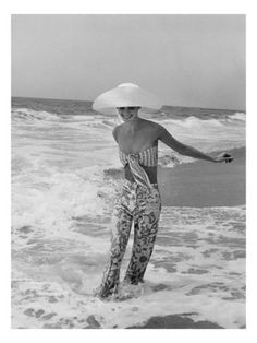 Vogue - July 1972 - Diana Ewing Walking in the Surf Poster Print  by Shannon John at the Condé Nast Collection