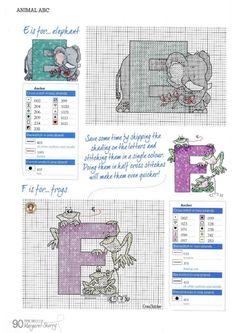 Animal ABC by Margaret Sherry The Best of Margaret Sherry Book Hard Copy Disney Cross Stitch Patterns, Cross Stitch For Kids, Cross Stitch Boards, Cross Stitch Tree, Cross Stitch Baby, Cross Stitch Animals, Cross Stitch Designs, Monogram Cross Stitch, Cross Stitch Alphabet