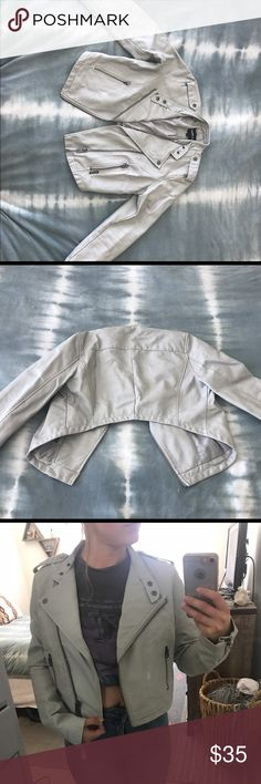 Urban Outfitters white leather jacket Urban Outfitters white leather jacket. Slightly work down spot seen in above photo. Originally $100 selling for $35 Urban Outfitters Jackets & Coats