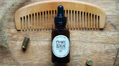 BEARD COMB: Peachwood,Handmade,Beard Comb,Gifts for Him,Private Stache,Beard Oil,Beard Kit