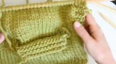 how to knit pocket - YouTube