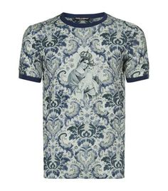 Dolce & Gabbana Crowned Madonna Floral T-Shirt available to buy at Harrods. Shop men's designer fashion online and earn Rewards points.