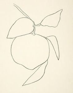 Chanterelle menu cover by Ellsworth Kelly - always think Ellsworth Kelly stuff would make a great tattoo