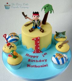 Jake and The Neverland Pirates Cake & Cupcakes