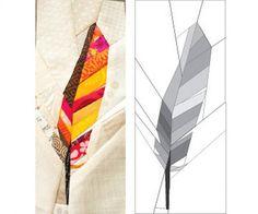 Free pattern: Contour Feather quilt block
