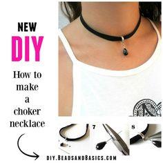 DIY - How to make a choker necklace http://diy.beadsandbasics.com/diy-how-to-make-a-choker-necklace/