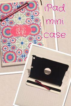 ipad mini case, personalized ipad case, swivel case