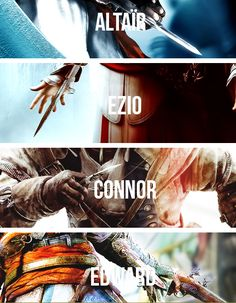 The Four Great Assassins. - Assassin's Creed