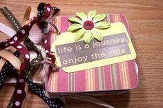 Family Premade Mini Scrapbook Album Family by HampshireRose, $25.00