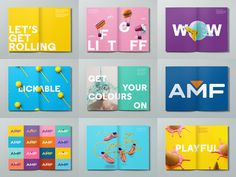 Clinton Duncan was a designer - AMF Brand Identity Booklet Design, Book Design Layout, Identity Design, Brochure Design, Brand Identity, Ecole Design, City Branding, Brand Book, Magazines For Kids
