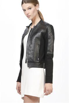 Pinko Short leather jacket