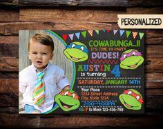 TMNT invitación / invitación de cumpleaños las Tortugas Ninja / invitación de la fiesta de las Tortugas Ninja / Ninja tortugas invitación / invitación de cumpleaños / NR