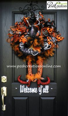 Halloween Wreath Witch Wreath Tutu Witch by PoshcreationsKY, $149.00