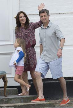 Princess Mary and Prince Frederik shared warm farewells with the crowd and Princess Joseph...