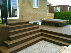 We specialise in SPA deck and patio since 200 pictures, ideas & images. Spa Design, Deck Design, Outside Living, Outdoor Living, Patio Plus, Porch Bar, Hot Tub Deck, Jacuzzi Outdoor, Deck Stairs