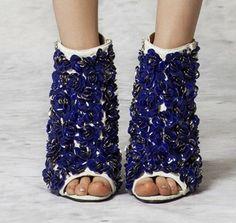 shoes / Roberto Cavalli Resort 2013// Blue & White Glitter Heels |2013 Fashion High Heels|