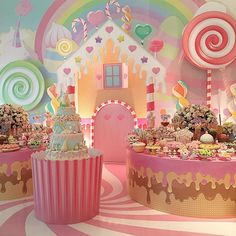 Decor Party Birthday Candy Land Ideas For 2019 Candy Theme Birthday Party, Candy Land Theme, Candy Party, 1st Birthday Parties, Themed Parties, Party Decoration, Birthday Decorations, Candy Decorations, Deco Restaurant