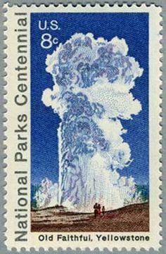 Old Faithful Stamp USA 1972