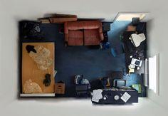 Série du photographe Menno Aden intitulée «Room Portraits».
