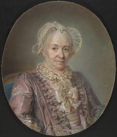Claude Bornet  An Elderly Lady in a Mauve Silk Dress, 1767  National Portrait Gallery DC  2001.21.1
