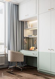 Alexander Kuzmenko on Behance Small Room Design Bedroom, Wardrobe Design Bedroom, Kids Bedroom Designs, Master Bedroom Interior, Kids Room Design, Home Room Design, Teenage Room Designs, Modern Luxury Bedroom, Luxurious Bedrooms