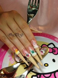 Nice nail art  but not for me